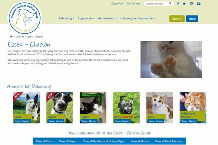 National Animal Welfare Trust, Clacton