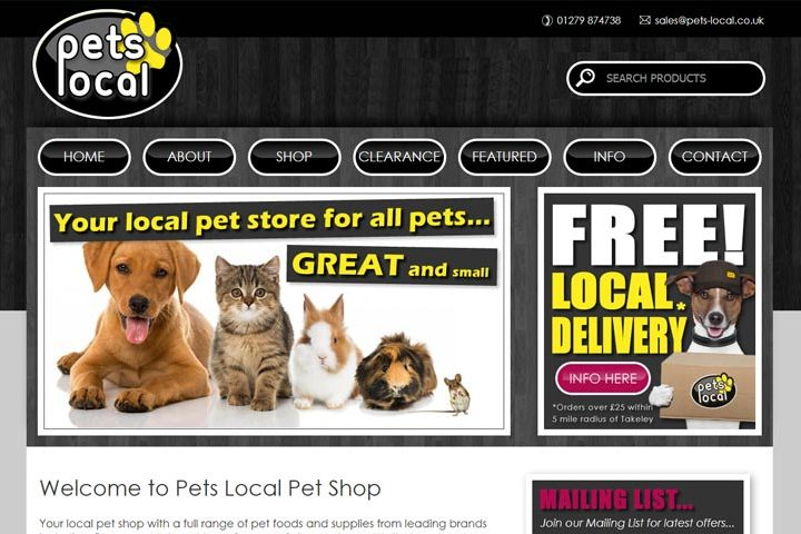 Pets Local Pet Shop, Takeley