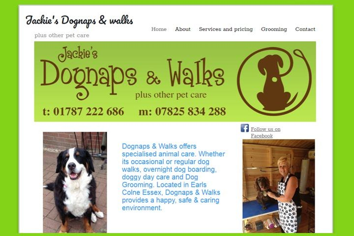 Jackie's Dognaps and walks, Earls Colne