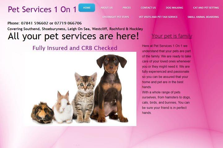 Pet Services 1 On 1, Southend
