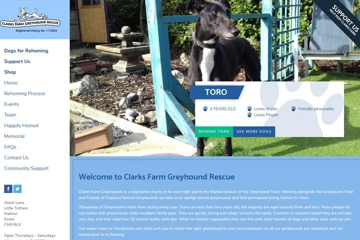 Clarks Farm Greyhound Rescue, Maldon