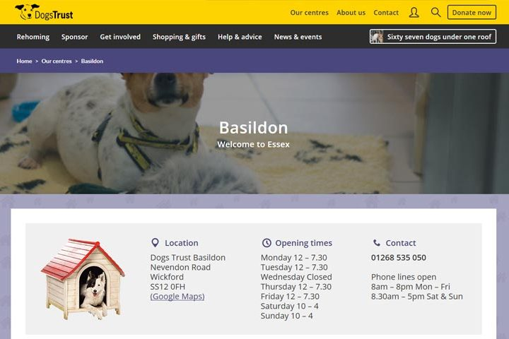 Dogs Trust Basildon, Wickford