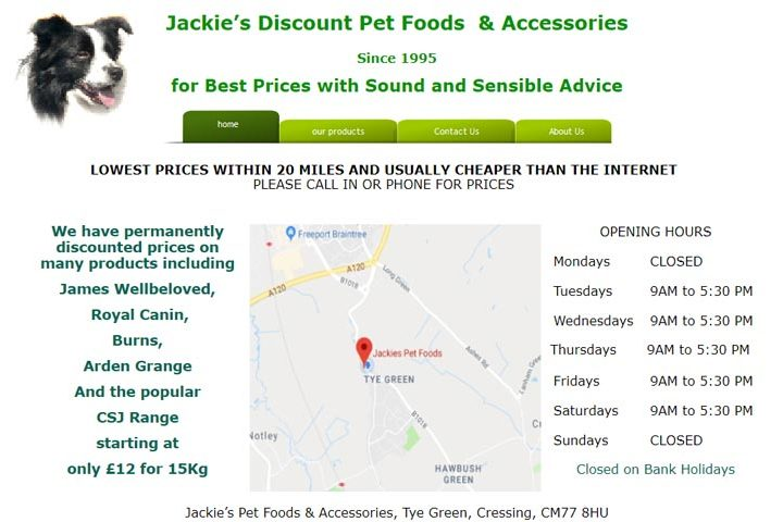 Jackie's Pet Foods and Accessories, Cressing