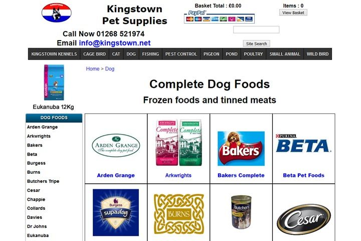 Kingstown Pet Supplies, Billericay