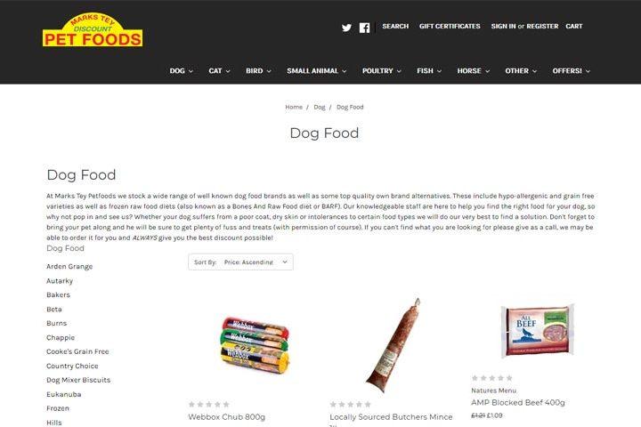 Marks Tey Discount Petfoods