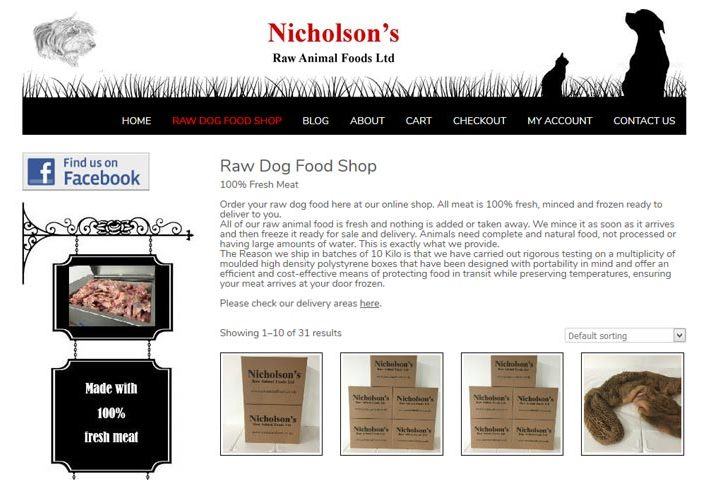 Nicholson's Raw Animal Foods, Southend